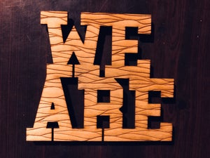 Image of We Are Lined Woody Magnet