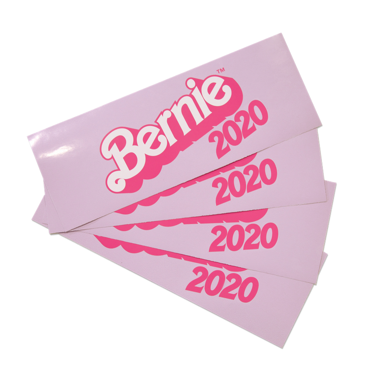 Image of Bernie Barbie Bumper Sticker 2020