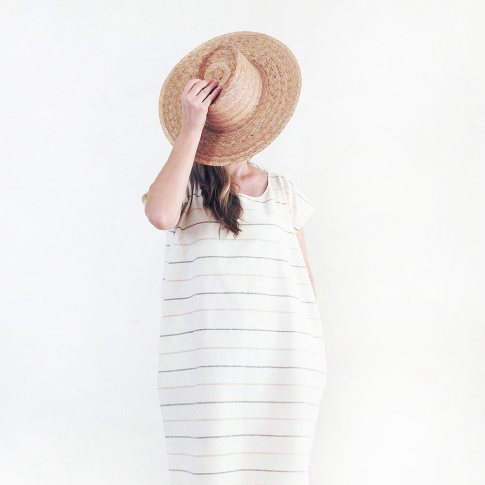 Image of Marinero Handwoven Striped Cotton Tunic