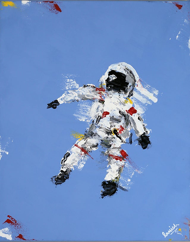 "Image of ""Blue Space Man"" Original"