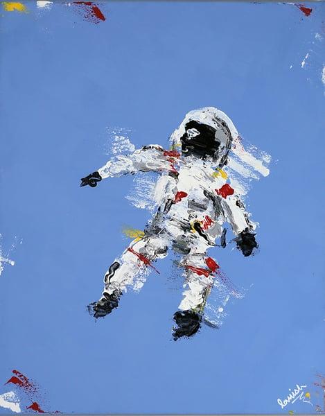 "Image of ""Blue Space Man"" Original"