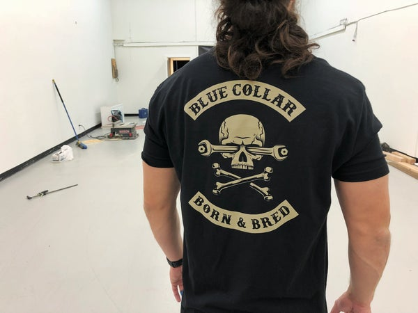 Image of BLUE COLLAR BORN & BRED T-Shirt