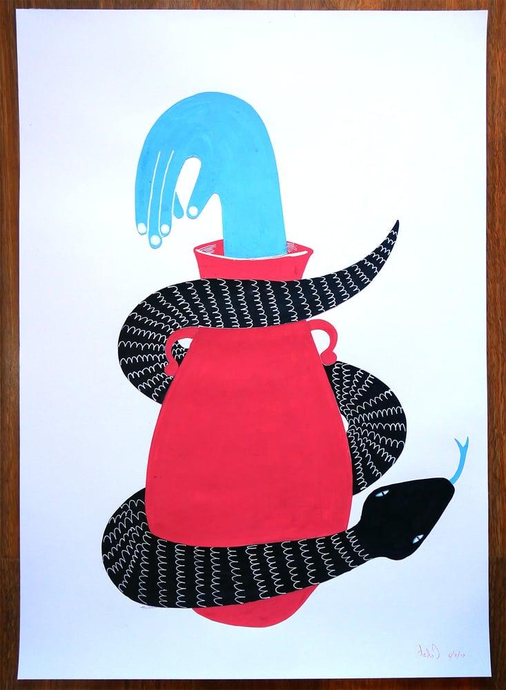 """Image of A2 """"HAND CHARMER"""" Original Artwork"""