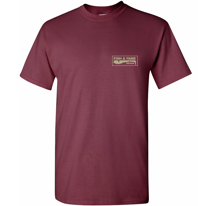 Image of Spotted Bay Bass Tee (maroon)