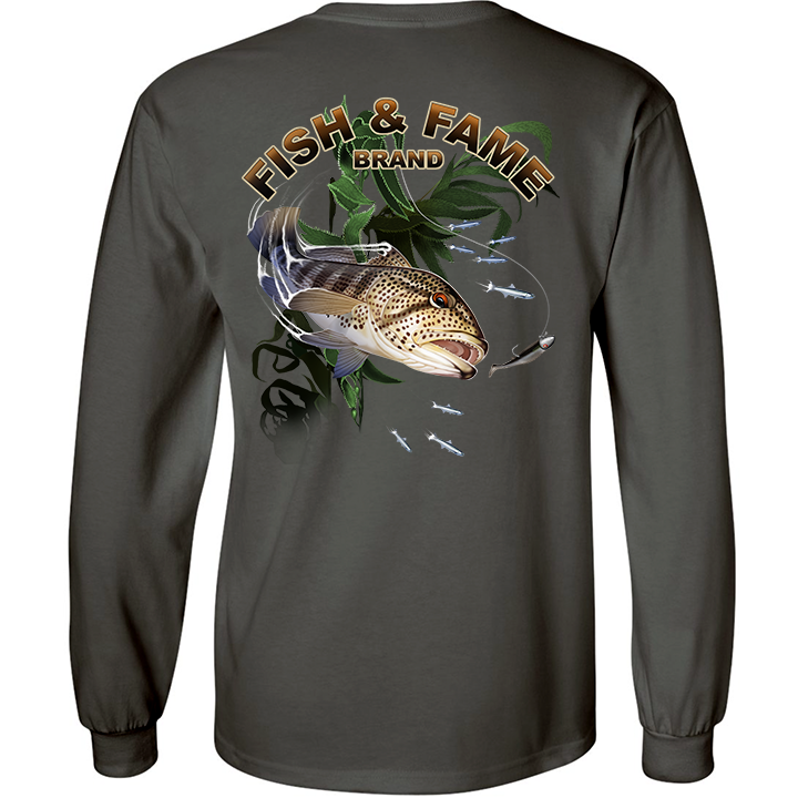Image of Spotted Bay Bass long Sleeve (gun metal)