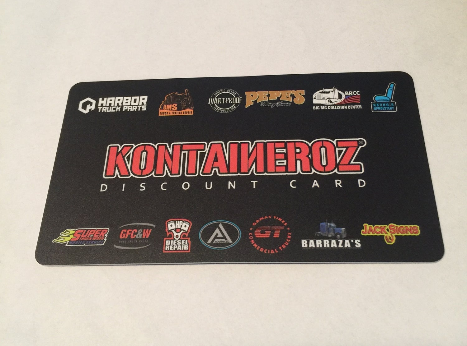 Image of KONTAINEROZ Discount Card  (CA ONLY)