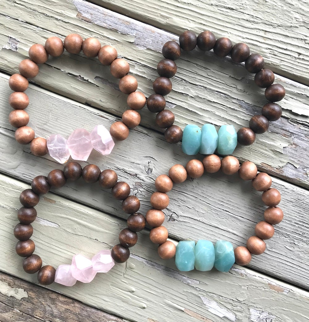 Image of Wood & Gem Bracelets