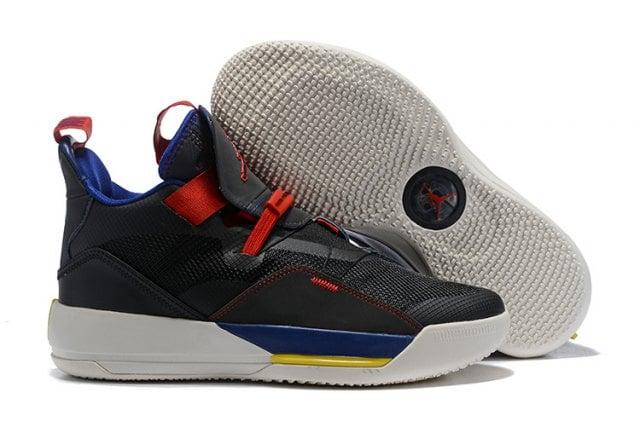 bd27af40eeb671 Image of Mens Air Jordan 33 XXXIII Future of Flight Navy Blue Black Red  Basketball Shoes ...