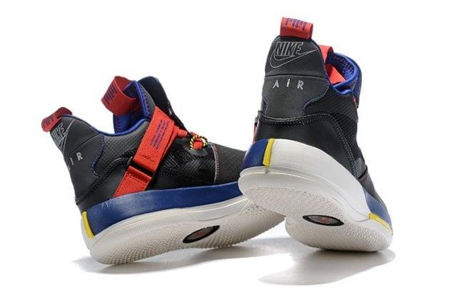 614f11c39d5 ... Image of Mens Air Jordan 33 XXXIII Future of Flight Navy Blue Black Red  Basketball Shoes ...