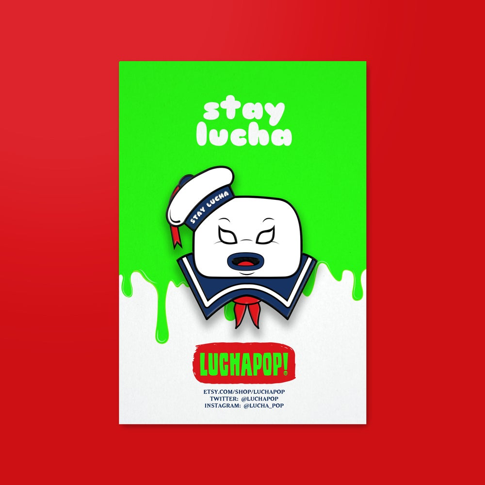 "Image of Luchapop! ""Stay Lucha"" Pin Badge"