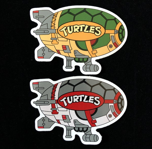 "Image of TMNT_Wiz Blimp 4"" Premium Stickers! *2 Pack*"