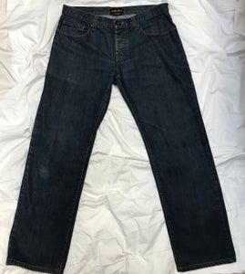Image of Emporio Armani Button-Fly Dark Denim Jeans