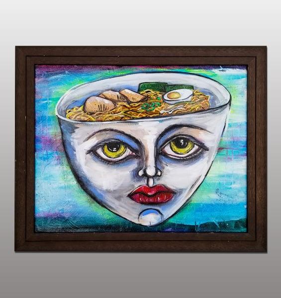 Image of Ramen Head Painting