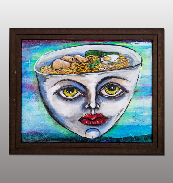 Image of Ramen Head Painting