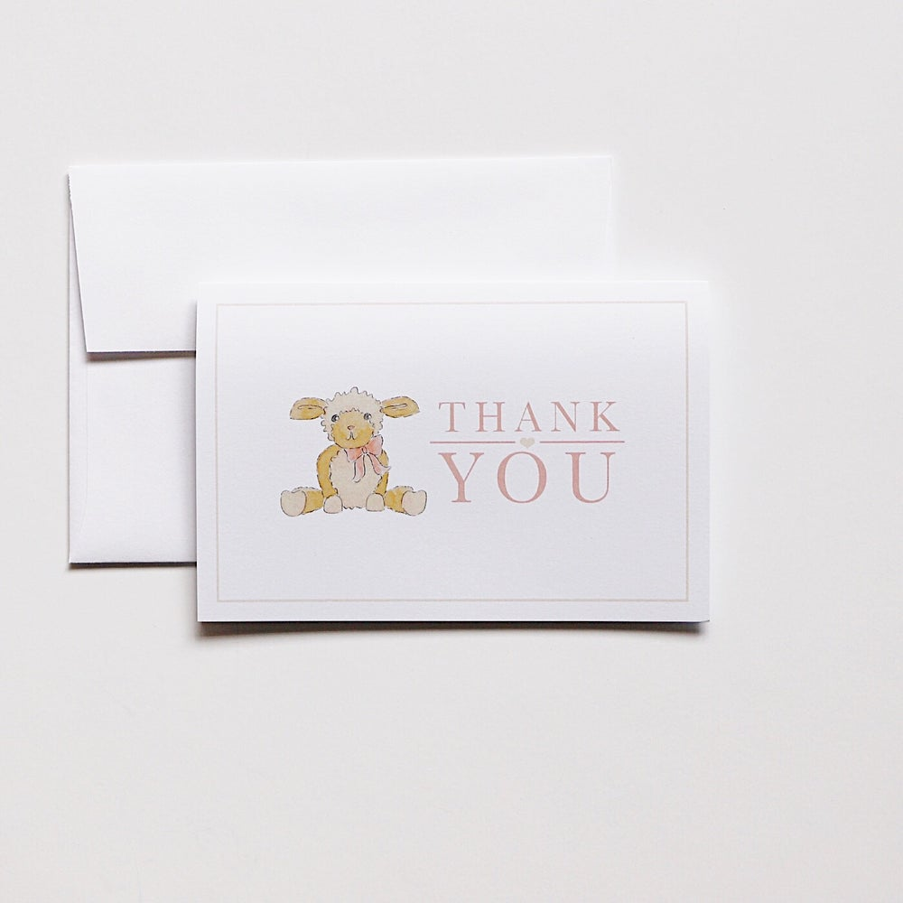 Image of Thank You Card - Lamb