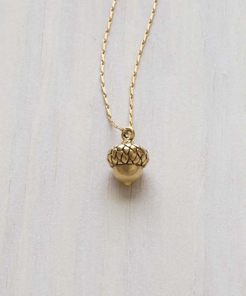 Image of Tiny Acorn Necklace