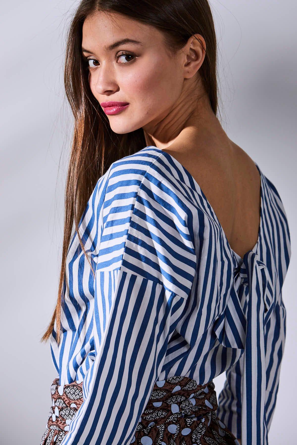 Image of  Camisa Mimosa Rayas Azules