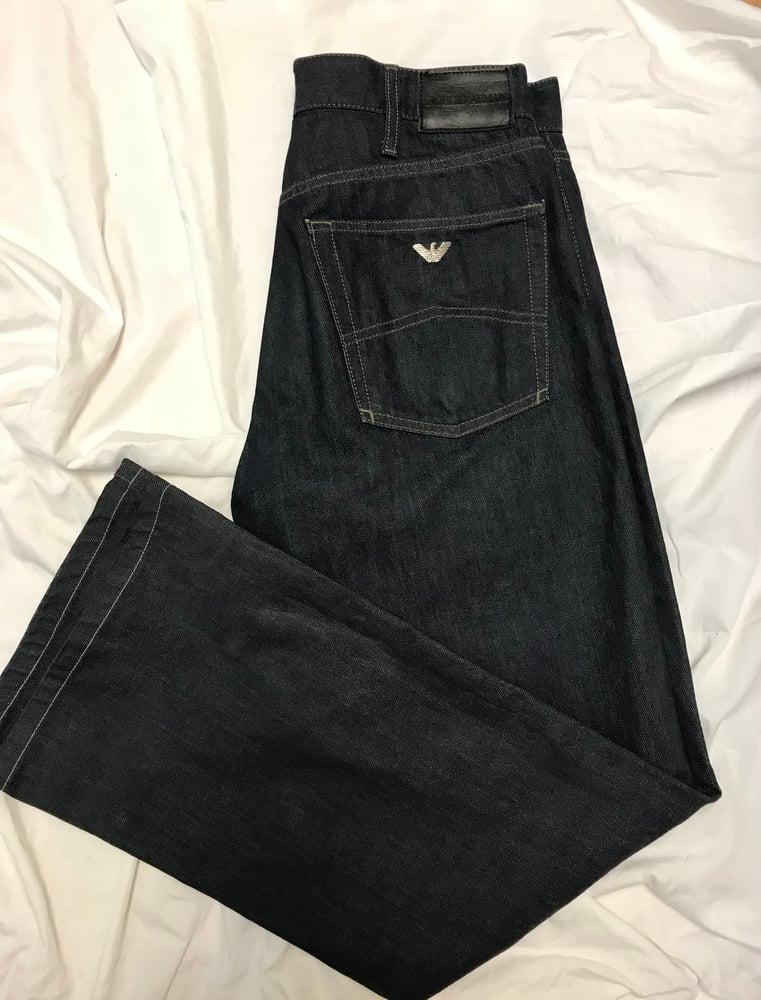 Image of Giorgio Armani Big White Exclusive Men's Jeans