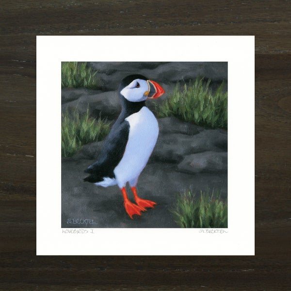 "Image of ""Lovebirds I"" Puffin Art Print"