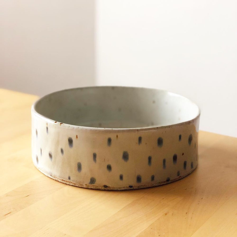 Image of Dotted White Bowl