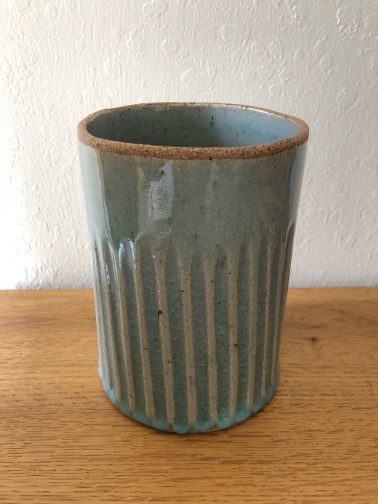 Image of Celadon Utensil Holder (cylinder)