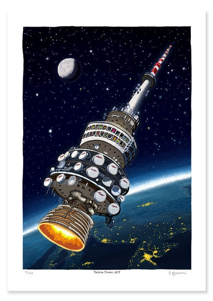 Image of Telstra Tower in Space