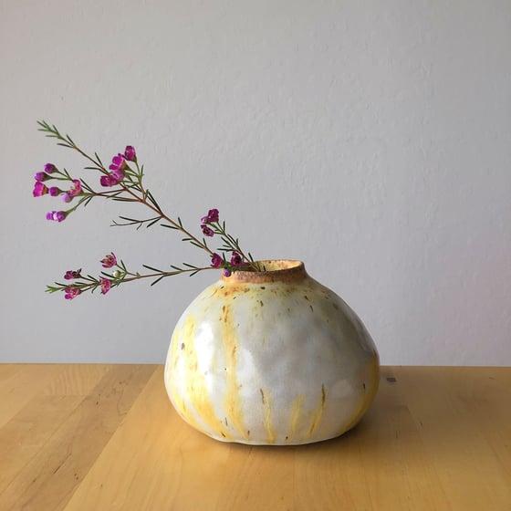Image of White-yellow vase