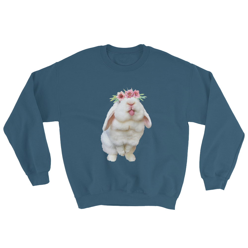 Image of Blanco 'Flower Crown' Crewneck Sweatshirt