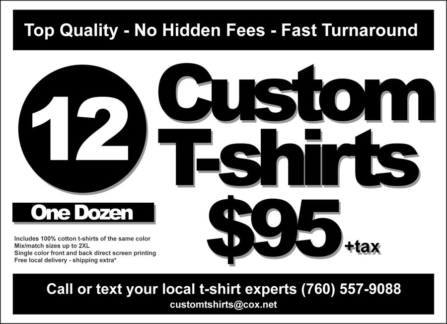 Image of 12 Custom T-shirts