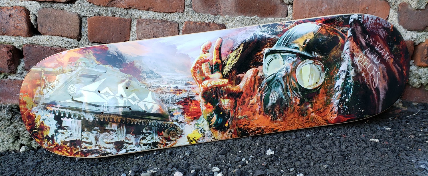 Image of SODOM IN WAR AND PIECES LIMITED EDITION SKATEBOARD
