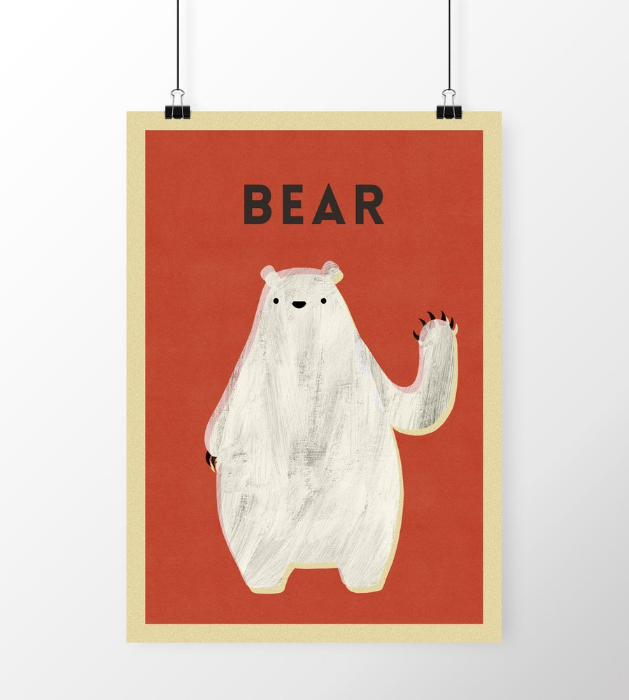 "Image of A3 ""BEAR"" Print"