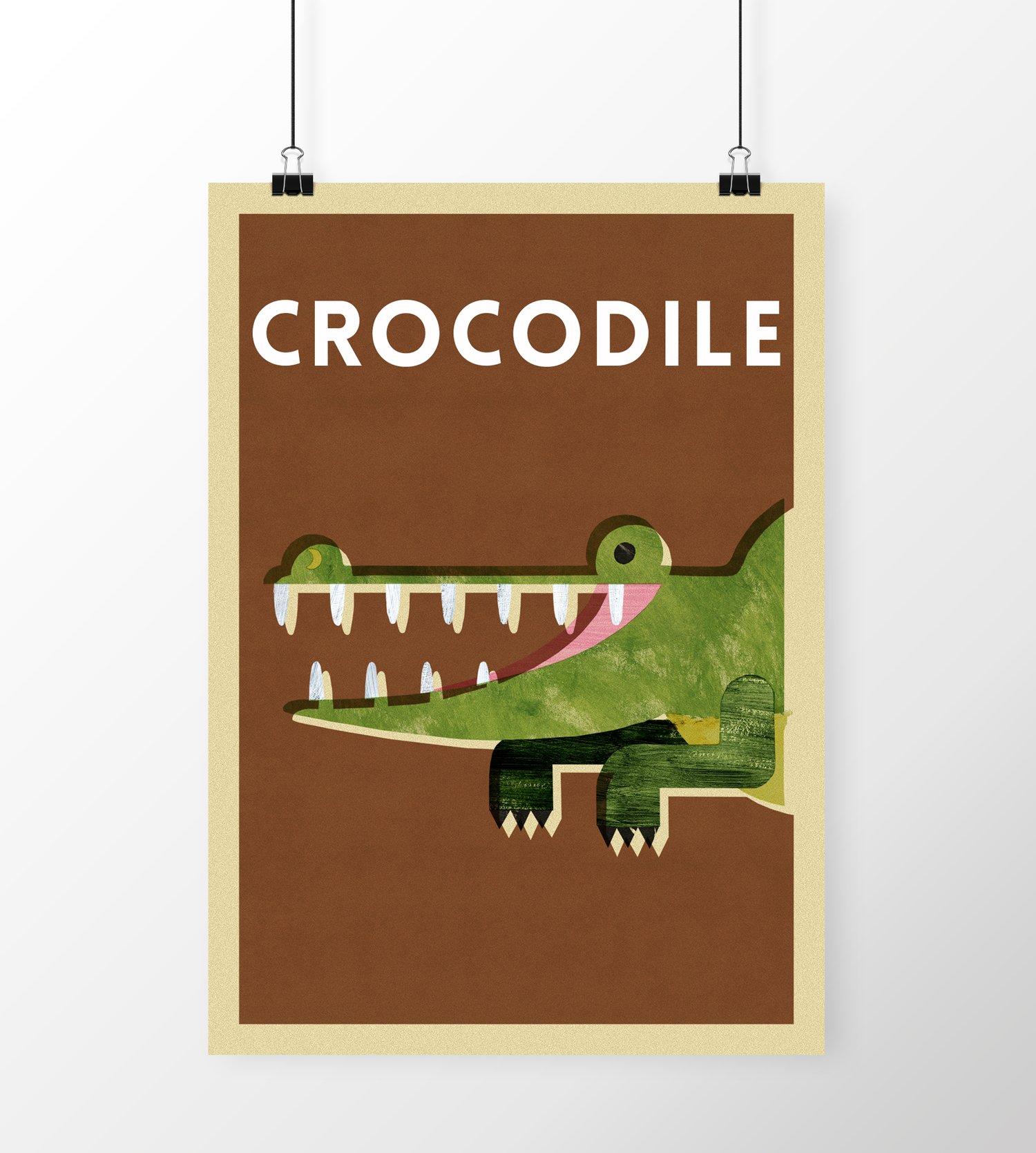 "Image of A3 ""CROCODILE"" Print"