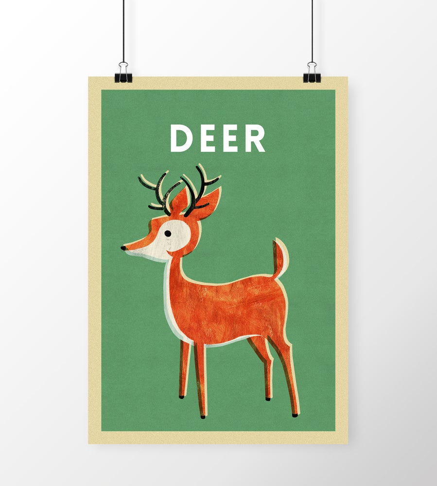 "Image of A3 ""DEER"" Print"