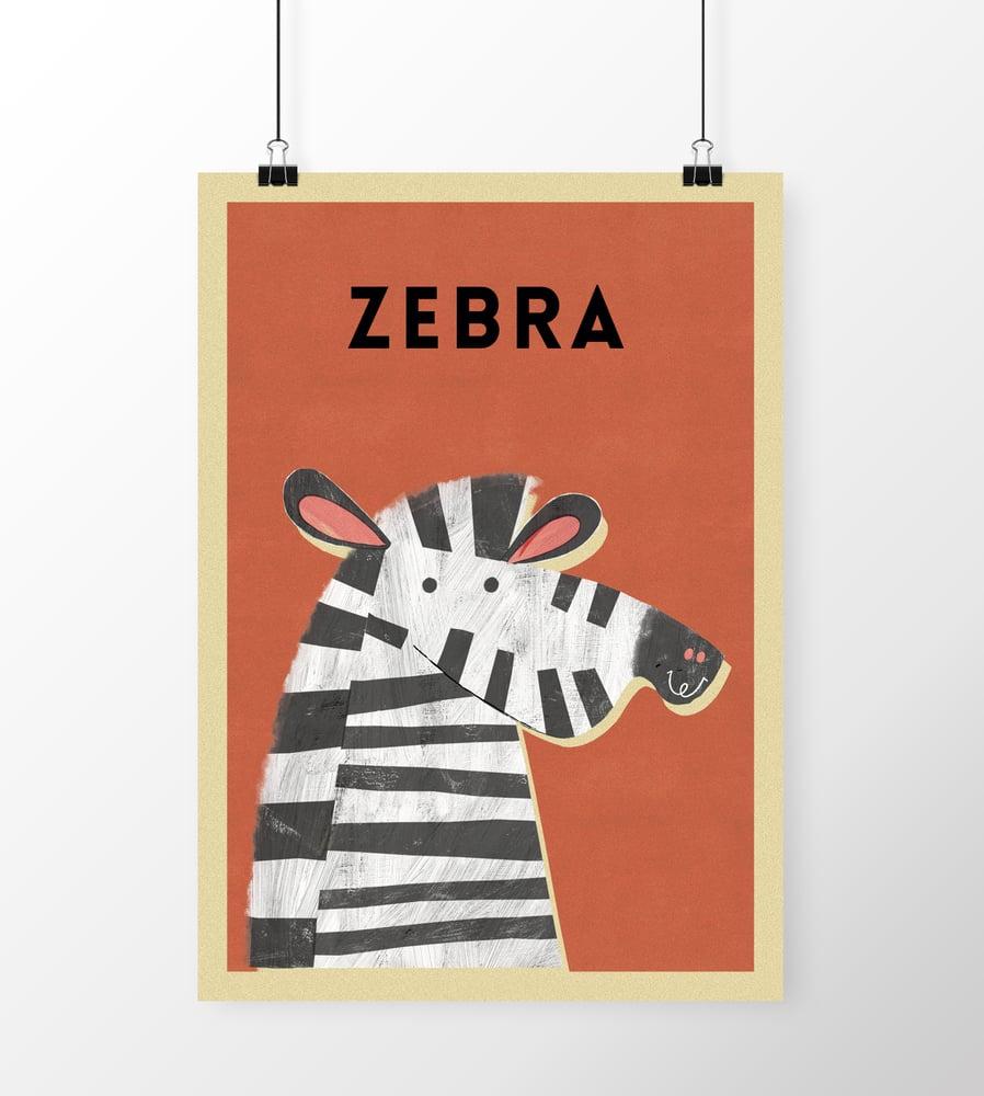 "Image of A3 ""ZEBRA"" Print"