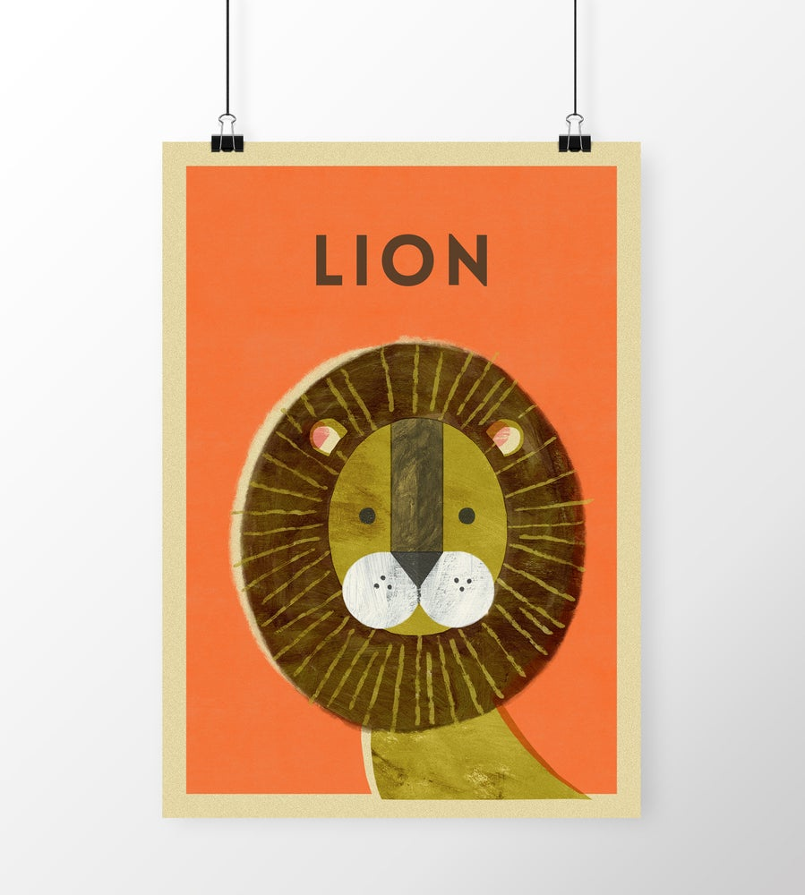 "Image of A3 ""LION"" Print"