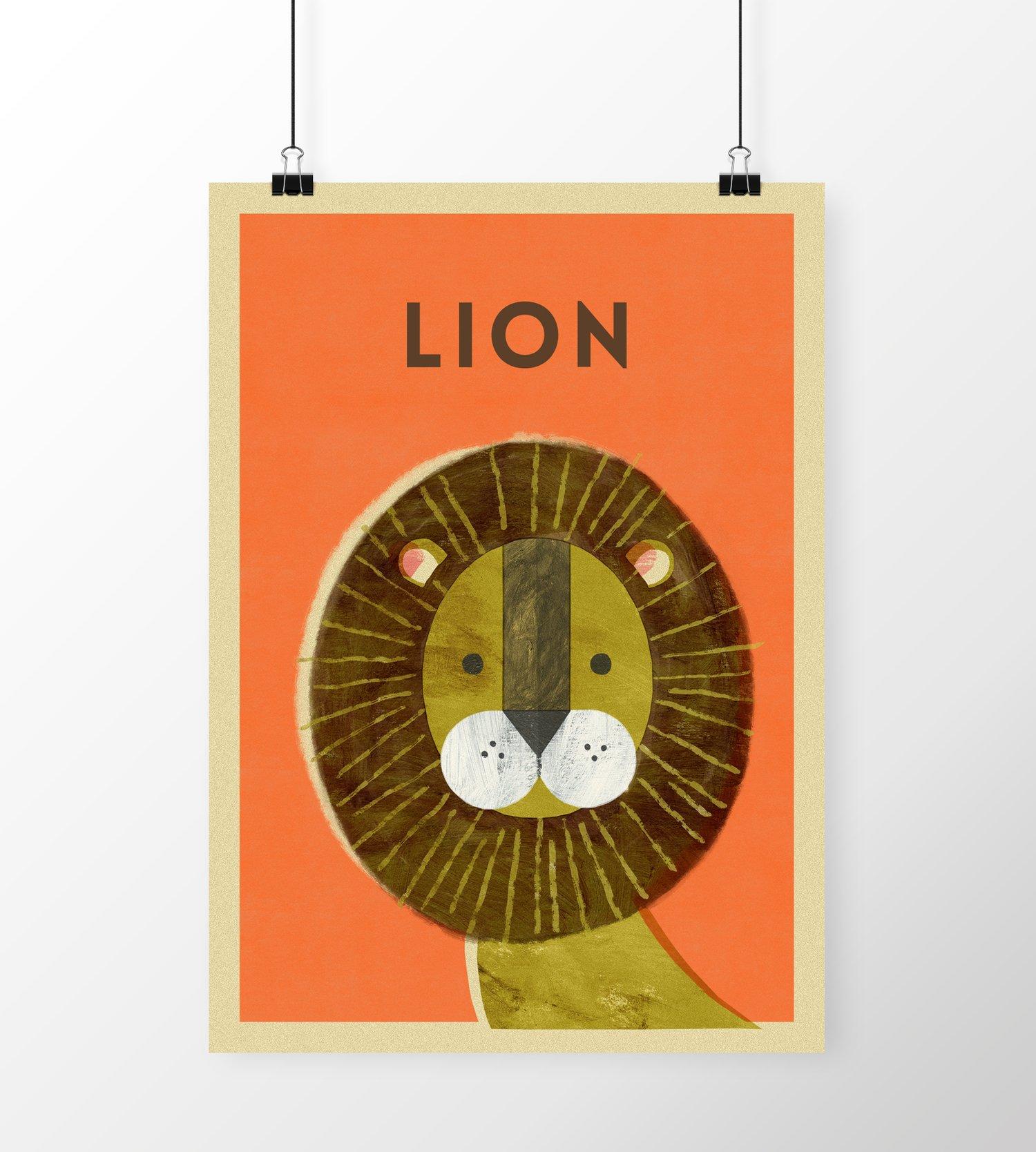 "Image of A3 ""LION"" Print"