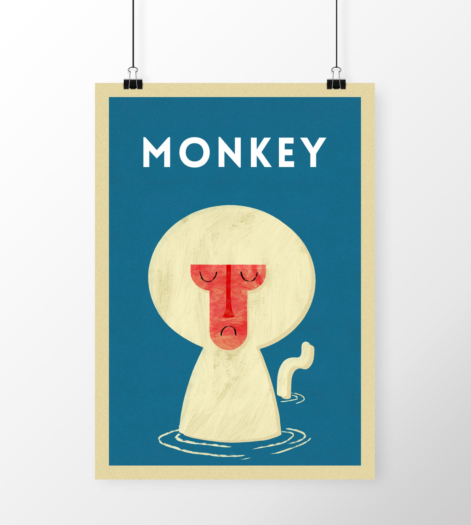 "Image of A3 ""MONKEY"" Print"