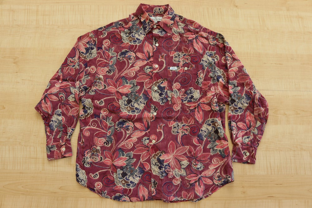 Image of Vintage 1990's Guess by Georges Marciano Floral Button Up Shirt Sz.M