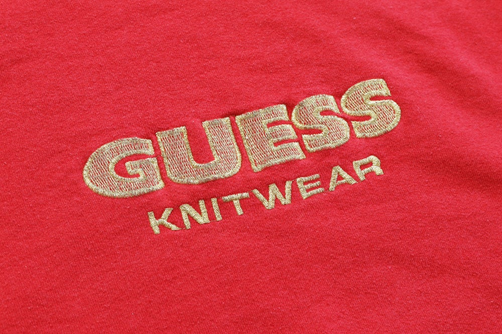 Image of Vintage 1990's Guess by Georges Marciano Embroidered Crewneck Sz.M