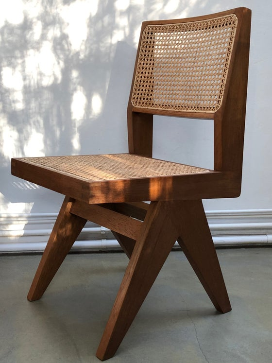 Image of armless dining chair          by Pierre Jeanneret*