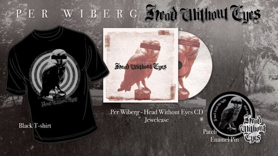 Image of Per Wiberg - Head Without Eyes Big CD Package (T-Shirt/CD/Patch/Enamel Pin)