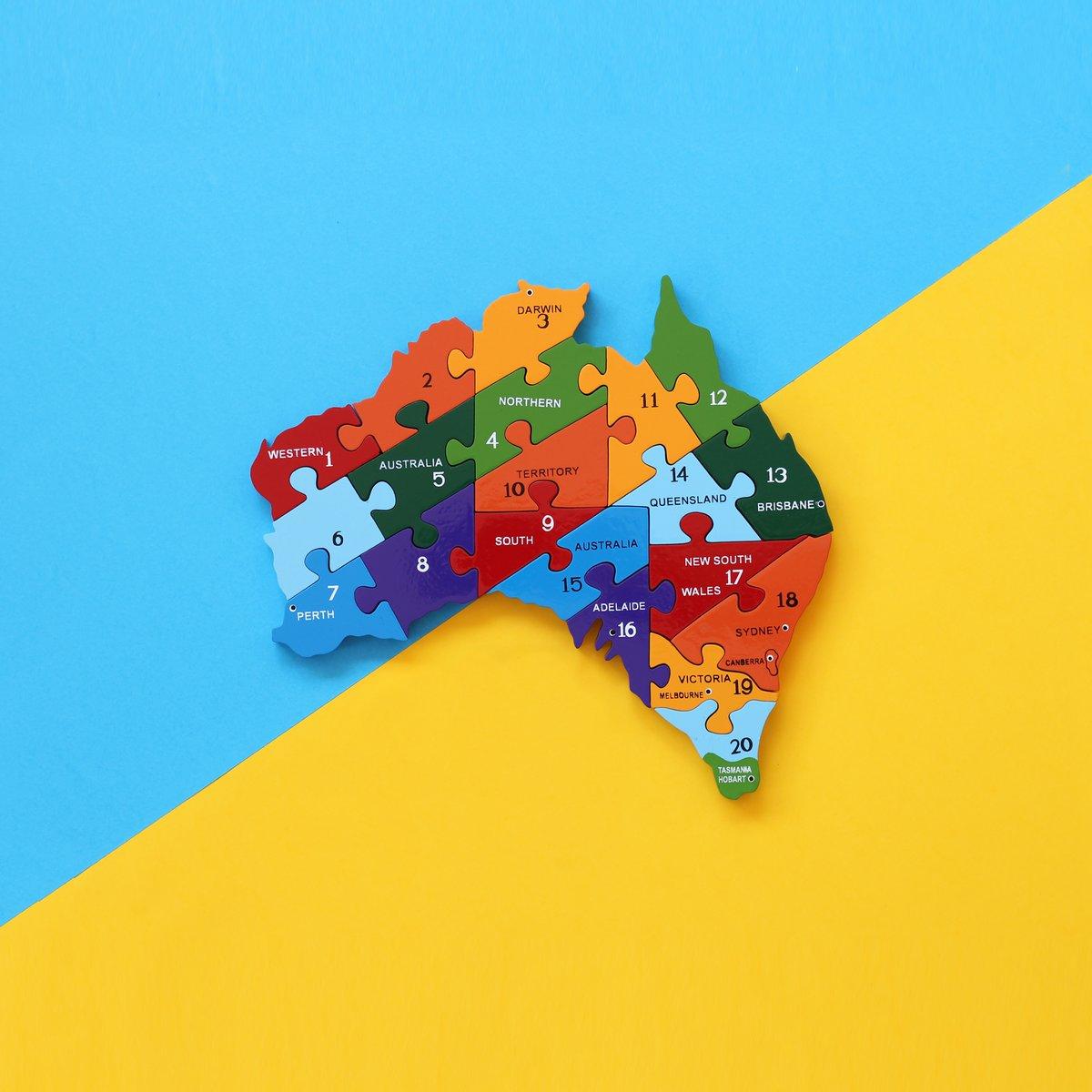 Image of Australia Map 1-20