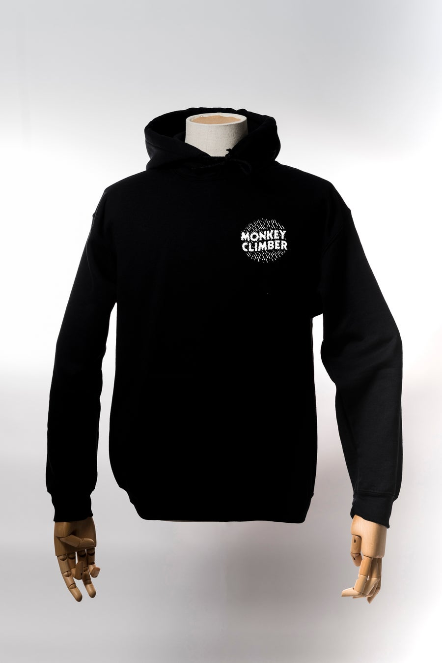 Image of Monkey Climber Ink hoodie I Black