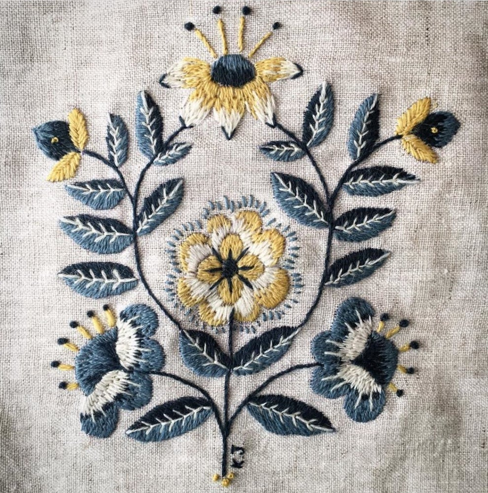 Image of 9 week Embroidery with Kasia Jacquot.. Wed May 1st - 29th June