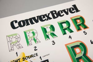 Image of Convex Bevel Poster
