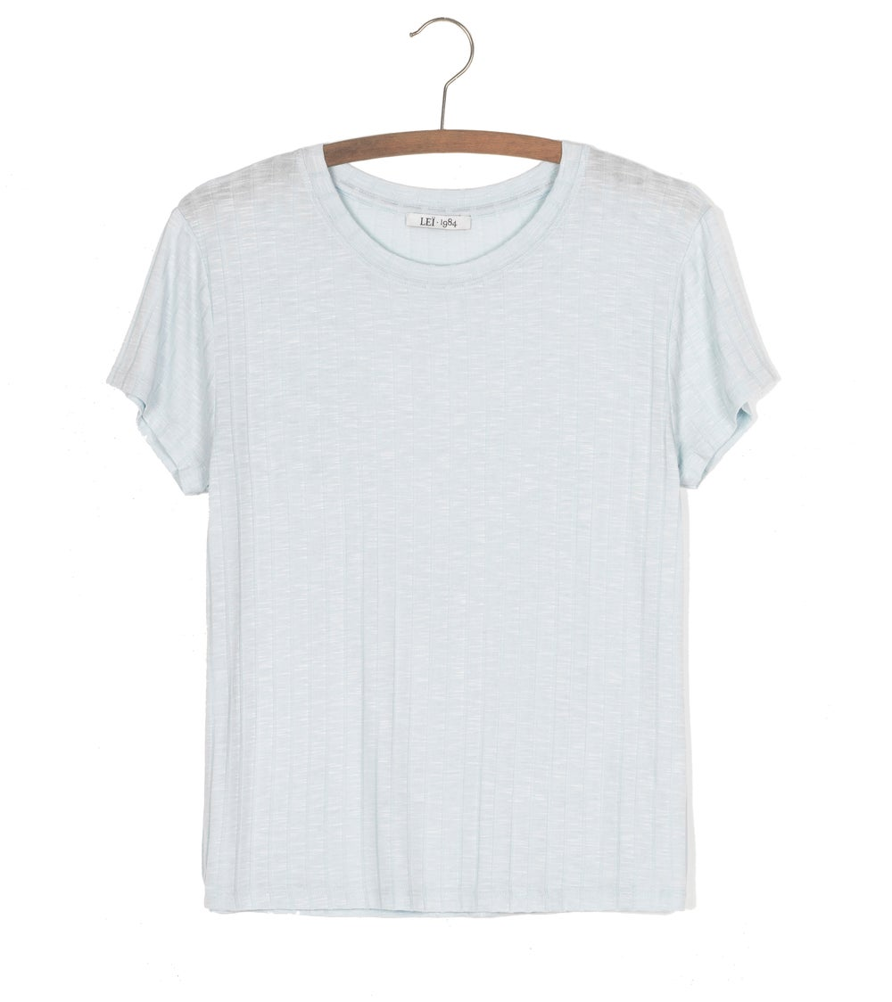 Image of Tee shirt côtes PRUNE