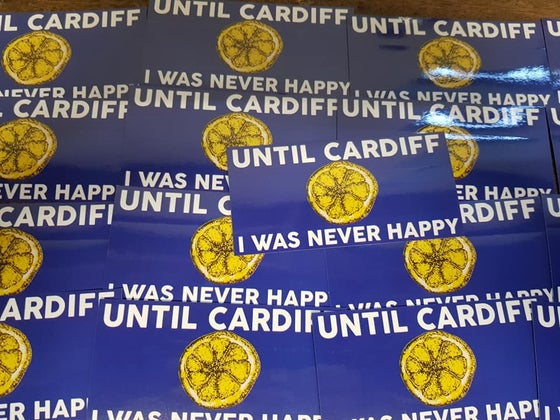 Image of Until Cardiff I Was Never Happy New 25 pack of 10x5cm Football Ultras Stickers.