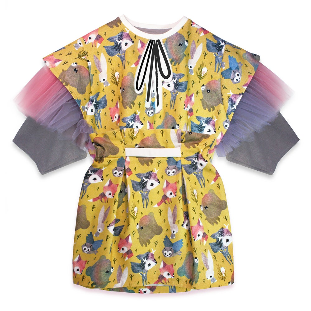 Image of 'Willow' yellow spring dressy /skirt + shirt set/