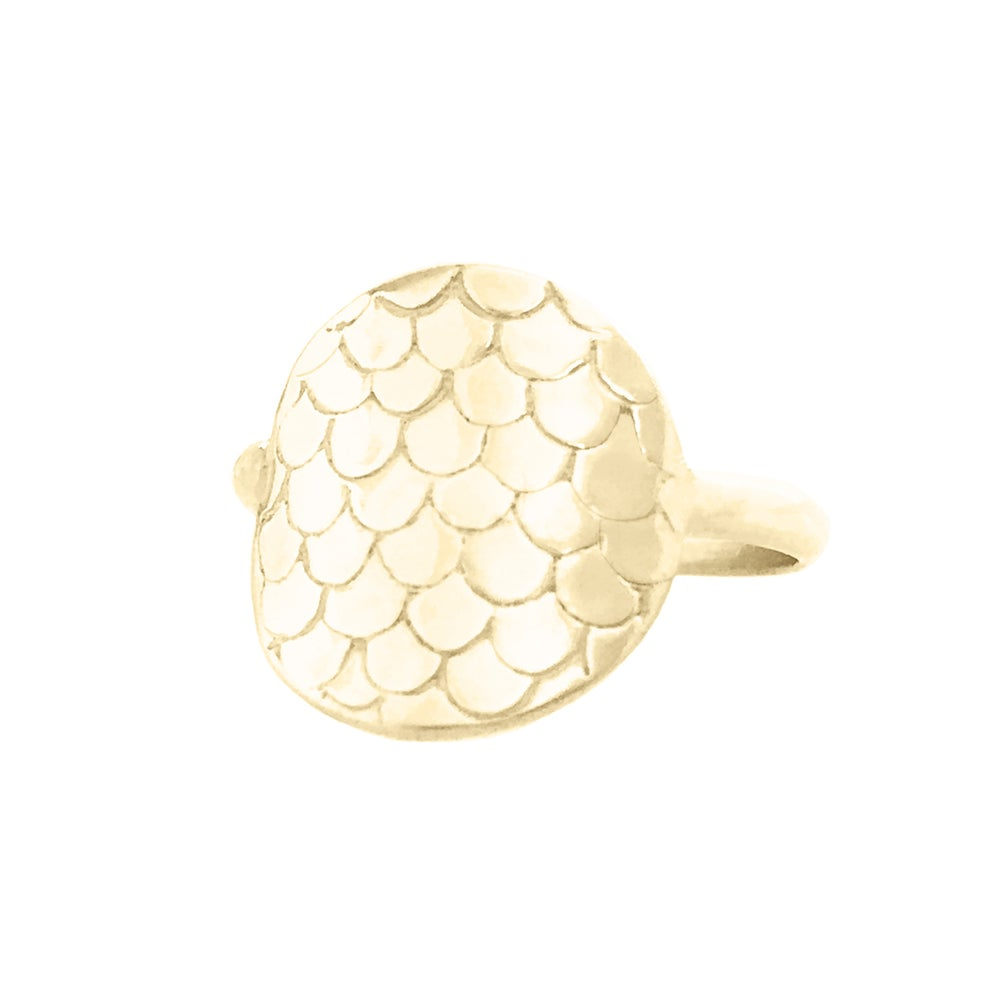 Image of Mermaid Scale Ring - Gold