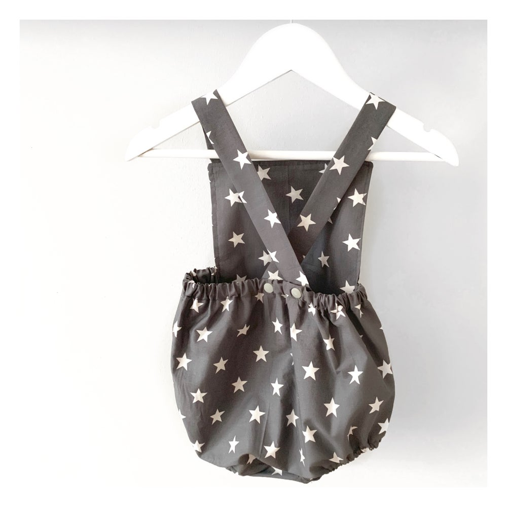 Image of Grey star romper & ruffle neck dress